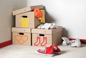 Toques de diseño para intervenir cajas de cartón