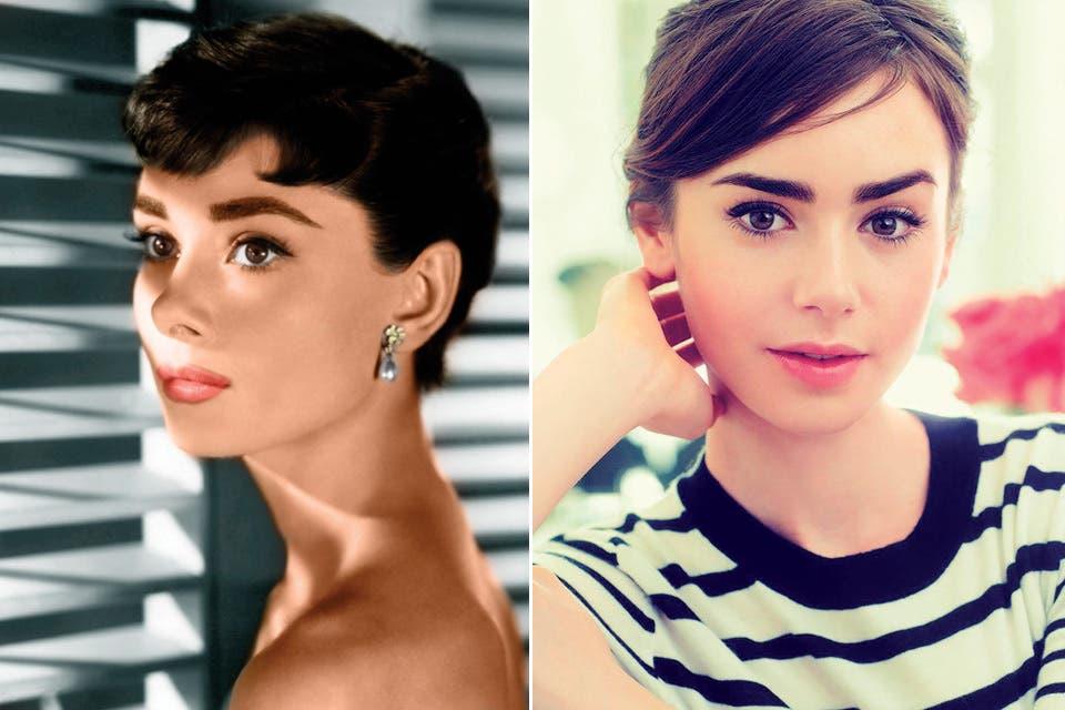 Audrey Hepburn y Lily Collins.