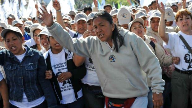 Milagro Sala, la líder de la agrupación Tupac Amaru