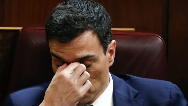 Pedro Sánchez, ayer en el Congreso
