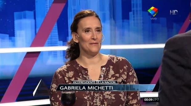 La vicepresidenta, Gabriela Michetti, en Animales Sueltos