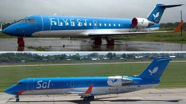El avión de Sol será usado por Flyest: no se cambiaron ni los colores
