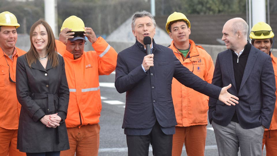 Vidal, Macri y Rodríguez Larreta inauguraron obras en el Puente La Noria