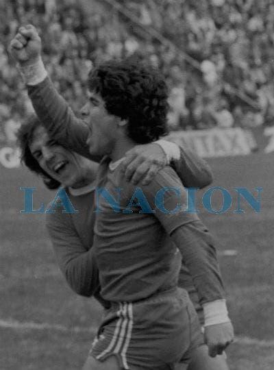 27-7-1980: contra Vélez hizo el gol del 1 a 1.. Foto: LA NACION
