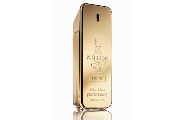 1 Million Intense 100ml ($610), un perfume que encarna el deseo más puro y la seducción extrema. Foto: Marce García Press