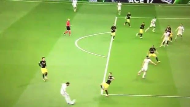 Ronaldo estaba adelantado en el inicio de la jugada