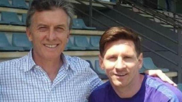Macri y Messi, en un encuentro en Barcelona