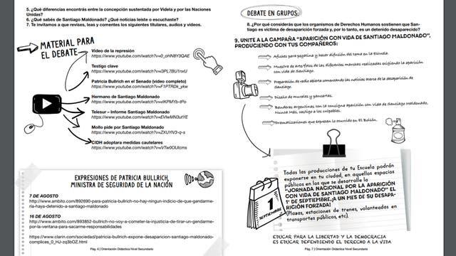 Parte del instructivo para alumnos de Nivel Secundario. Foto: CTERA