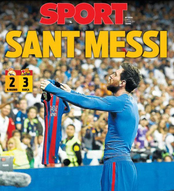 Sant Messi, la tapa de Sport
