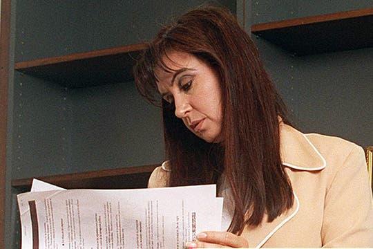 Como diputada, en su despacho. Foto: Archivo