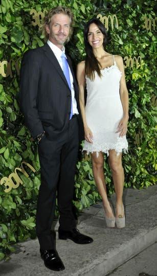 Facundo Arana también fue con su pareja,  María Susini. Foto: Gerardo Viercovich