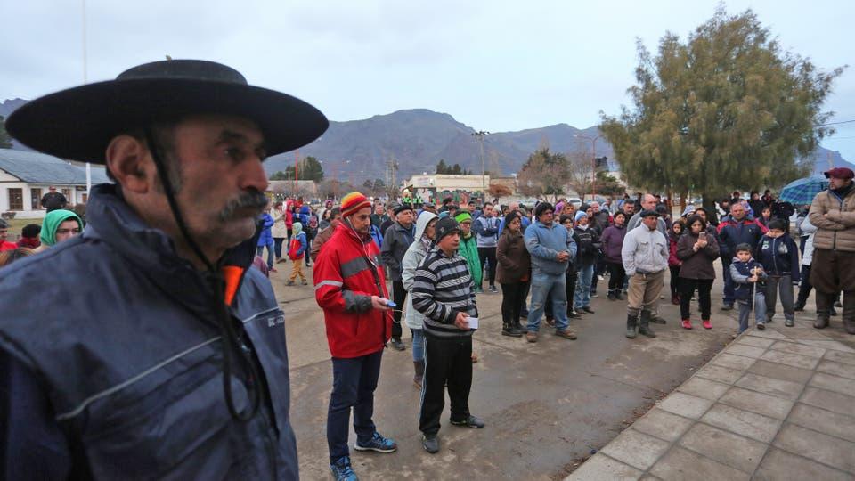 Asamblea en El Maitén contra el accionar del grupo Mapuche RAM. Foto: LA NACION / Santiago Hafford / Enviado Especial
