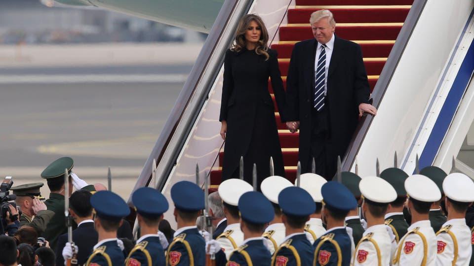 Donald Trump visita China en el marco de la gira por cinco países de Asia. Foto: Reuters / China Daily
