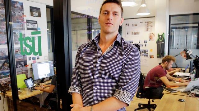 Sebastian Sobczak, CEO de Tsu.co, en las oficinas de la compañía en Nueva York