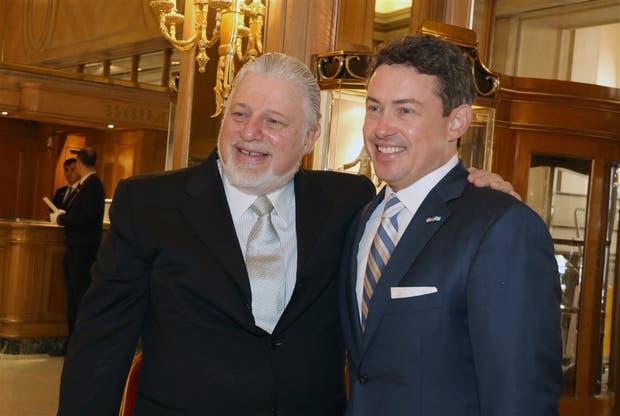 Adrián Werthein ayer, en el Alvear, con el embajador Noah Mamet
