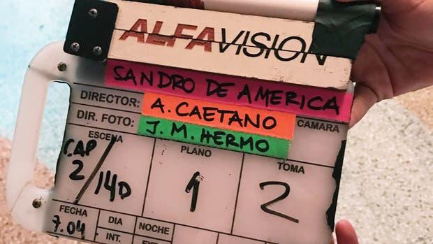 En el rodaje de la Sandro de América.