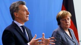 Conferencia de prensa de Macri y Merkel
