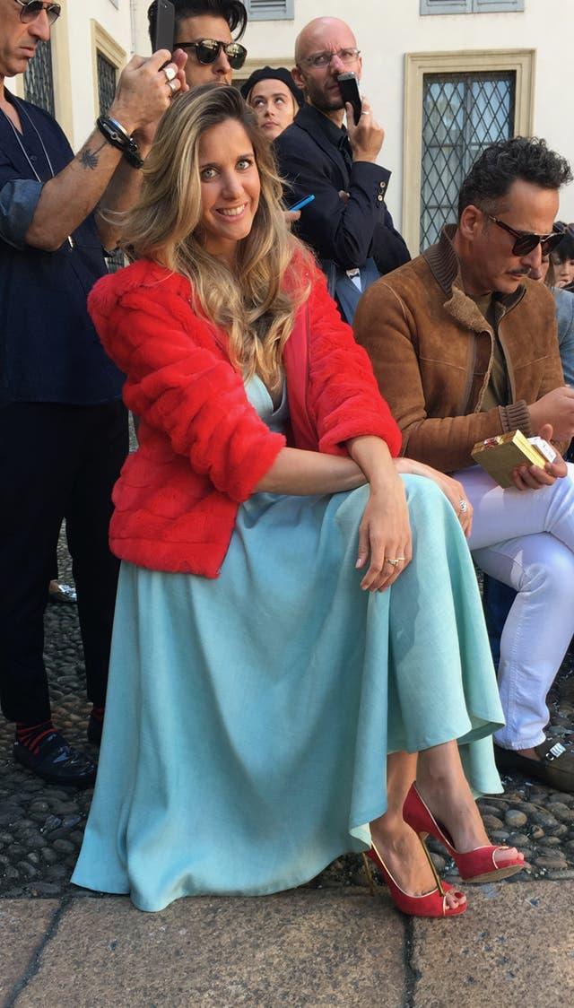 La modelo cordobesa Viviana Battan en el desfile de Beccaria