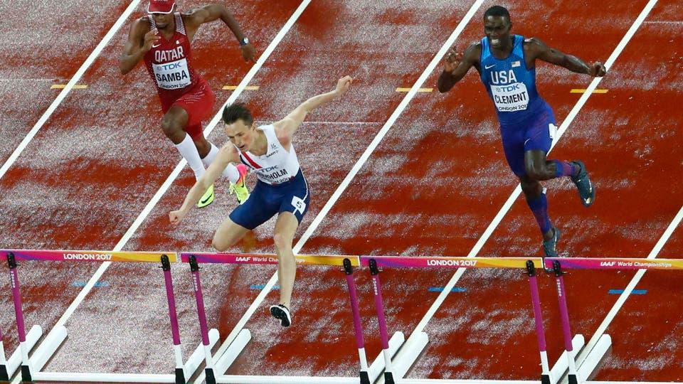 Atletismo - Campeonato Mundial de Atletismo - 400 metros de obstáculos para los hombres Karsten Warholm de Noruega. Foto: Reuters
