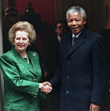 En 1990 se reunió con Nelson Mandela. Foto: Archivo