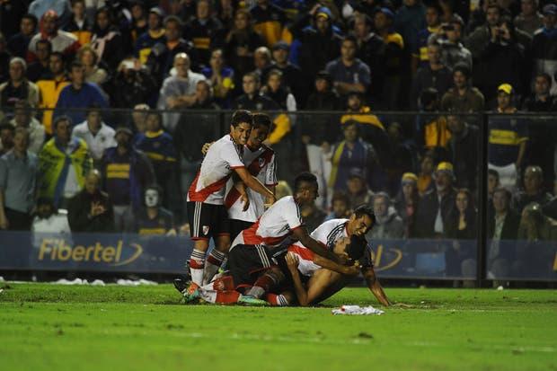River le ganó a Boca 2 a 1 y es escolta en el torneo Final.Volvió a ganar en la Bombonera después de 10 años.  Foto:LA NACION /Mauro Alfieri