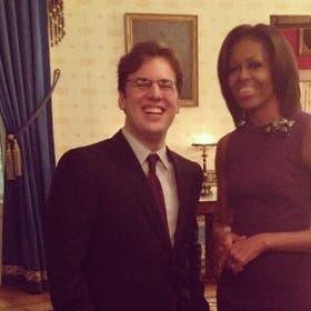 Krieguer junto a Michelle Obama, bajo la lente de Instagram