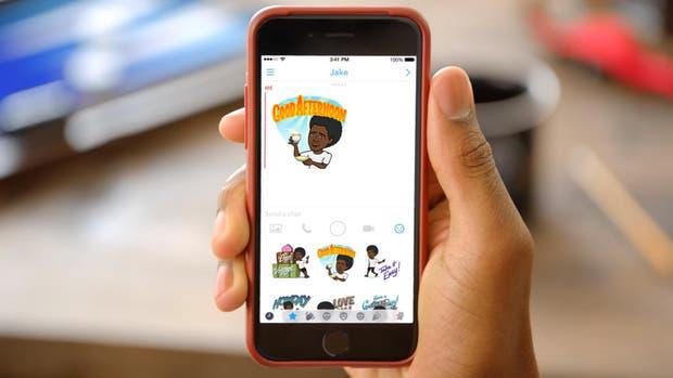 Un emoji personalizado en Bitmoji, una de las aplicaciones más extendidas en los dispositivos móviles