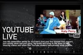 Kate Perry, ganadora de la categoría Mejor Artista Nuevo en la última edición del MTV Europe Music Awards, estará presente en YouTube Live.