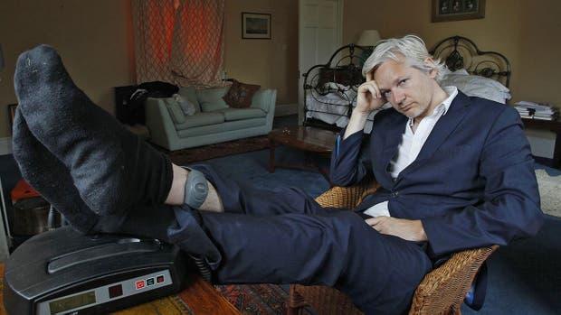 Assange, en la embajada ecuatoriana en Londres