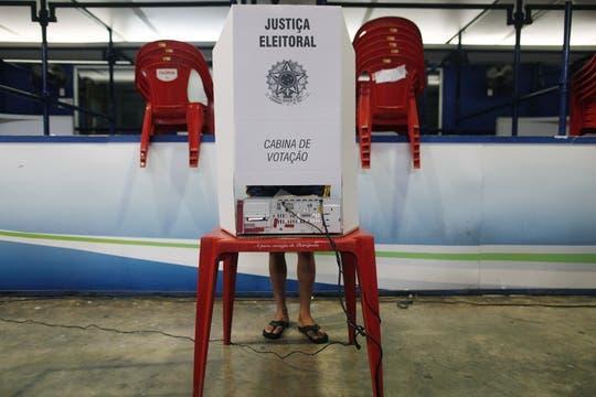 La votación en la Rocinha, en Rio de Janeiro. Foto: Reuters
