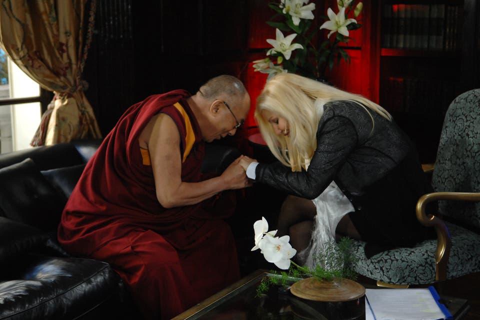 Cuando Susana entrevistó al Dalai Lama. Foto:Archivo
