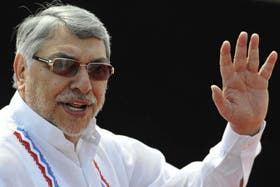 Fernando Lugo, ex presidente de Paraguay, durante un acto cuando era jefe de Estado