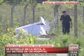 El accidente aéreo ocurrió en General Rodríguez