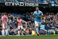 Manchester City goleó al Stoke City con un tanto de Sergio Agüero