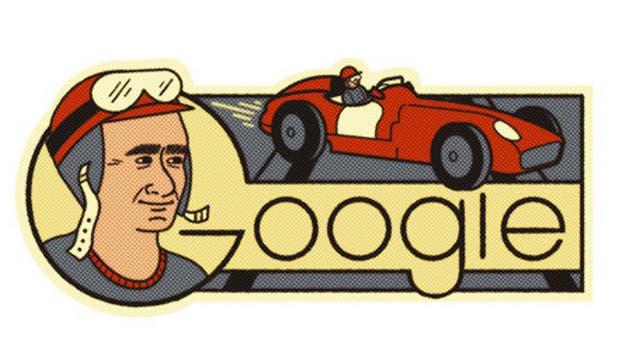El Doodle que el buscador le dedica a Fangio