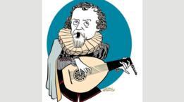 Esta caricatura de Dowland, realizada por el ilustrador inglés John Minnion, da testimonio del impacto del cantautor en Reino Unido.