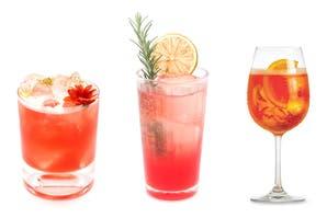 3 cócteles preparados con aperitivos