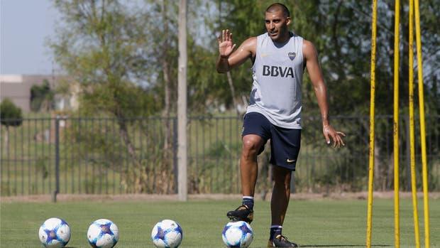 Ramon Wanchope Abila, entrenamiento de Boca Juniors