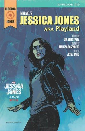 Netflix les pidió a 13 ilustradoras que intervinieran los títulos de la serie Jessica Jones
