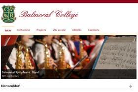 La página web del Balmoral College, de Lomas de Zamora