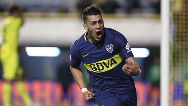 Cristian Pavón, autor del gol de Boca