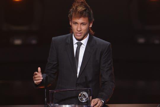 Neymar se llevó el premio al mejor gol del año. Foto: AP, AFP y Reuters