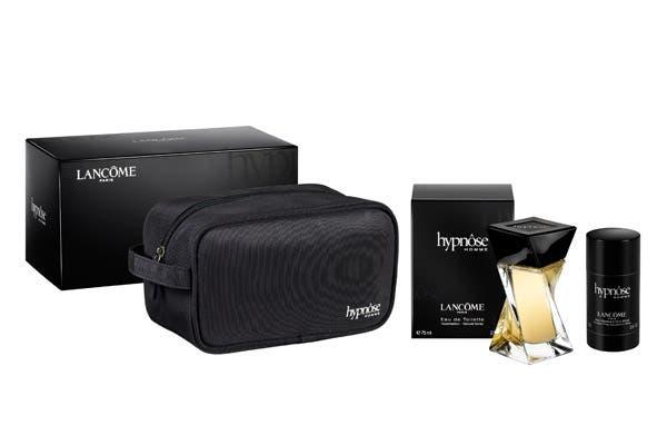 Lancôme Hypnose Homme: Fragancia 75ml + Stick Déodorant ($600), un balance perfecto los opuestos con esencia de menta, mandarina, cardamomo y lavanda. Foto: Gentileza Lancôme