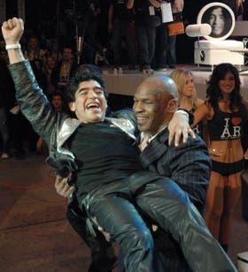 Mike Tyson, en una visita previa a la Argentina: en 2005, estuvo en el programa