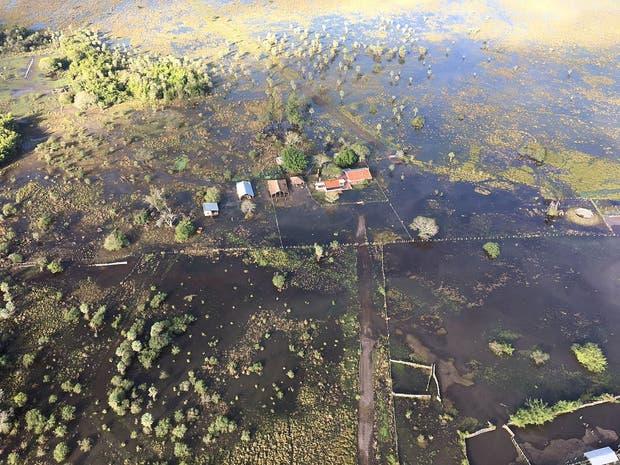 La zona inundada en Corrientes