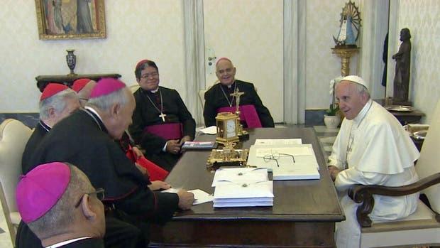 El Papa Francisco se reunió con obispos Venezolanos