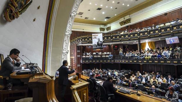 Freddy Guevara, primer vicepresidente del Parlamento, durante la sesión de ayer