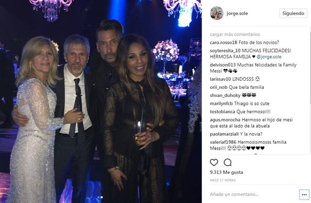 Las fotos que compartió Jorge Messi