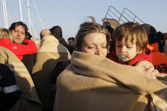 En el crucero viajaban 52 niños menores de seis años. Foto: Reuters