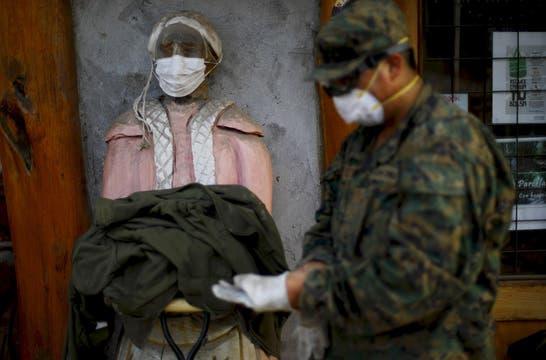 Mandaron 120.000 barbijos a los afectados por el volcán. Foto: Reuters